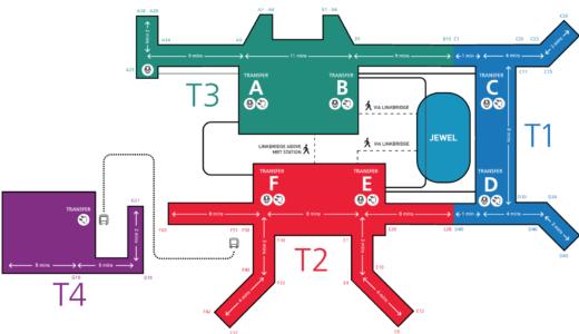 チャンギ空港のターミナル間移動はスカイトレイン(無料)が便利!